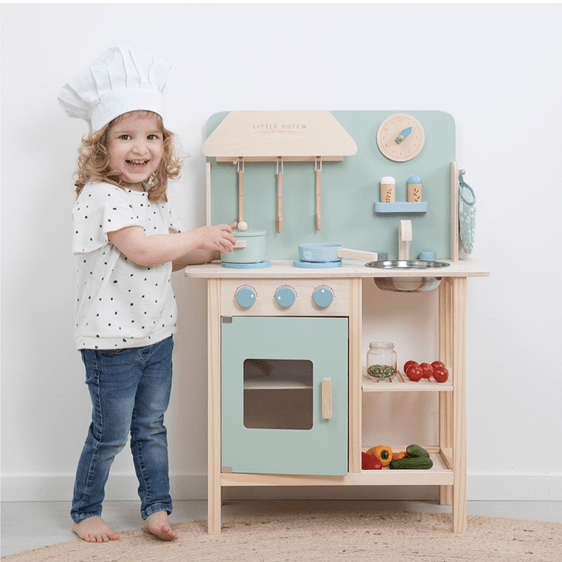 wooden kitchen kids