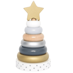 Stacking toy silver