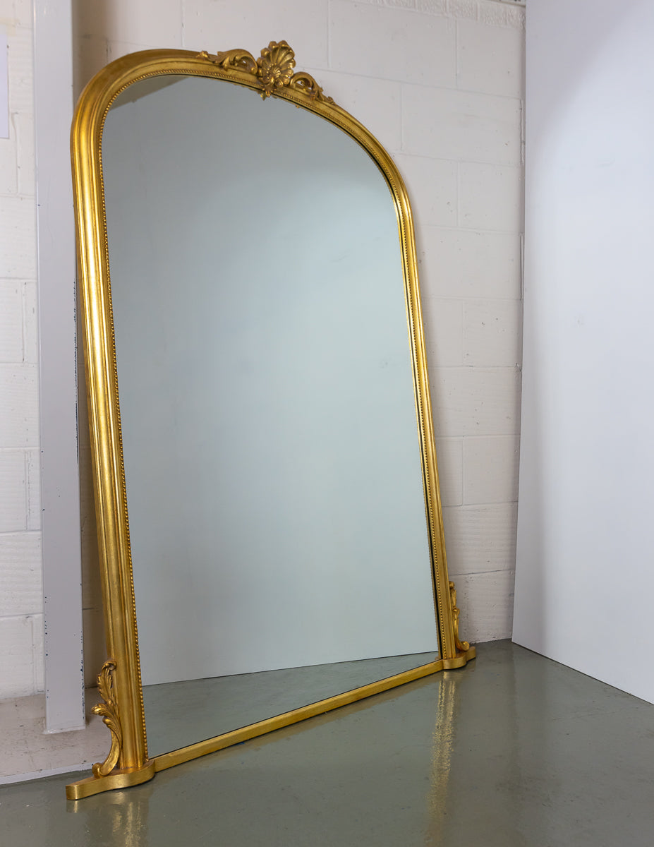 Elegant Gold Over Mantle Mirror