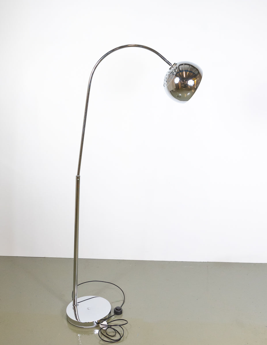 Modern Arched Chrome Floor Lamp