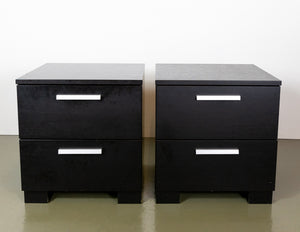 BoConcept Chrome and Black Bedside Tables (1 pair)