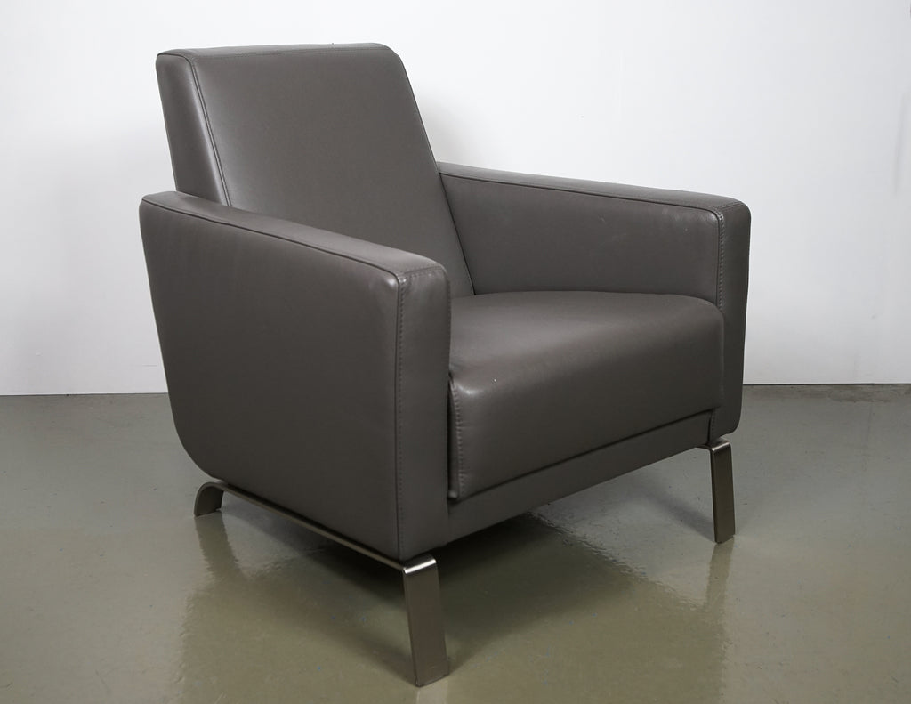(Fast No-Contact Delivery) BoConcept Leather Fly Chair