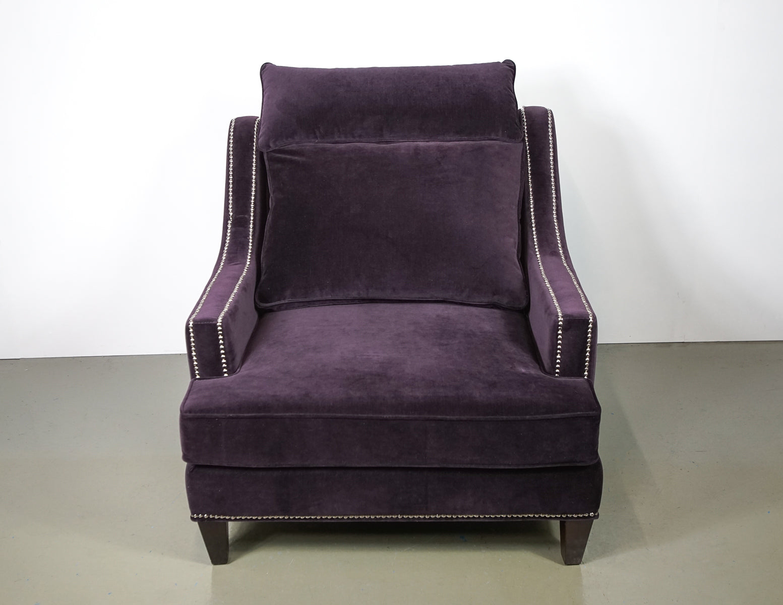 (Fast No-Contact Delivery) Z Gallerie Studded Velvet Armchair