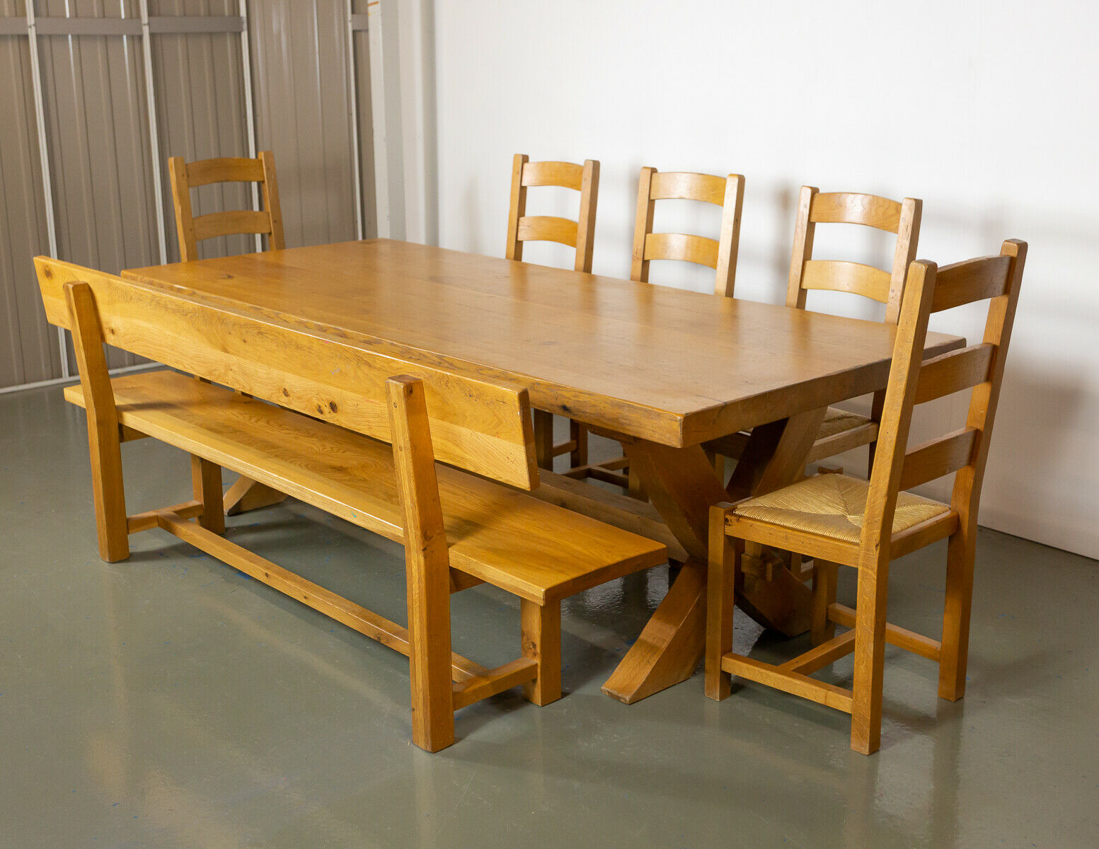 Rossiters of Bath Solid Wood Table, Chairs and Bench