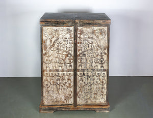 Indian Antique Walnut Drinks Cabinet