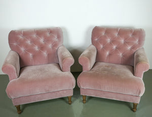 Sofa.com Upholstered Blush Pink Armchairs