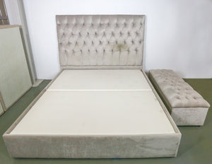 The White Company Upholstered Queen Bed and Storage Ottoman
