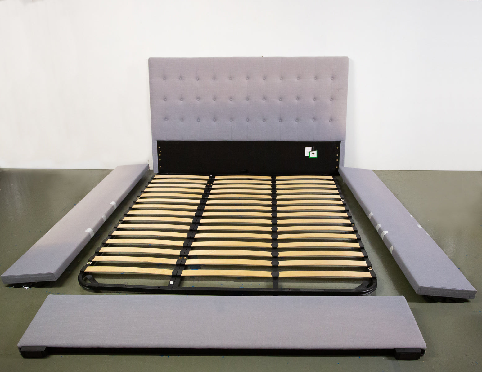 Made dot Com Super King Storage Finlay Bed and Mattress