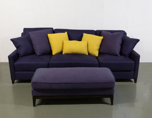 The Sofa & Chair Co 3 Seater Sofa with Footstool