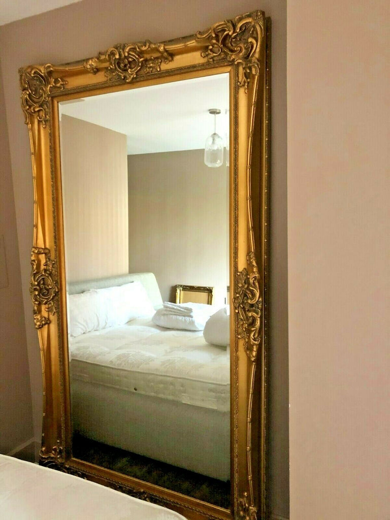 (Fast No-Contact Delivery) Bespoke Gold Frame Floor to Ceiling Mirror