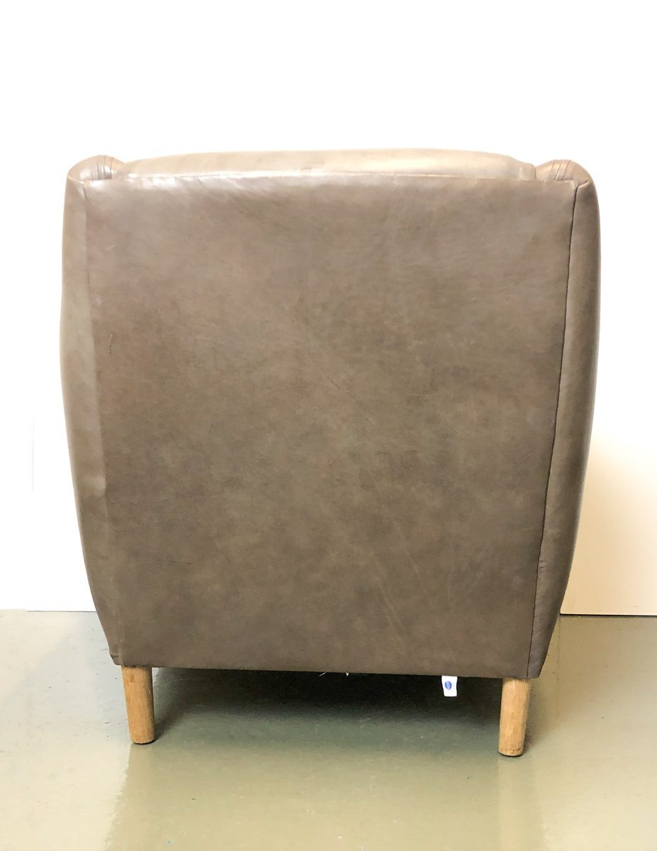 Armchair - SCP Balzac Real Leather Armchair & Footstool