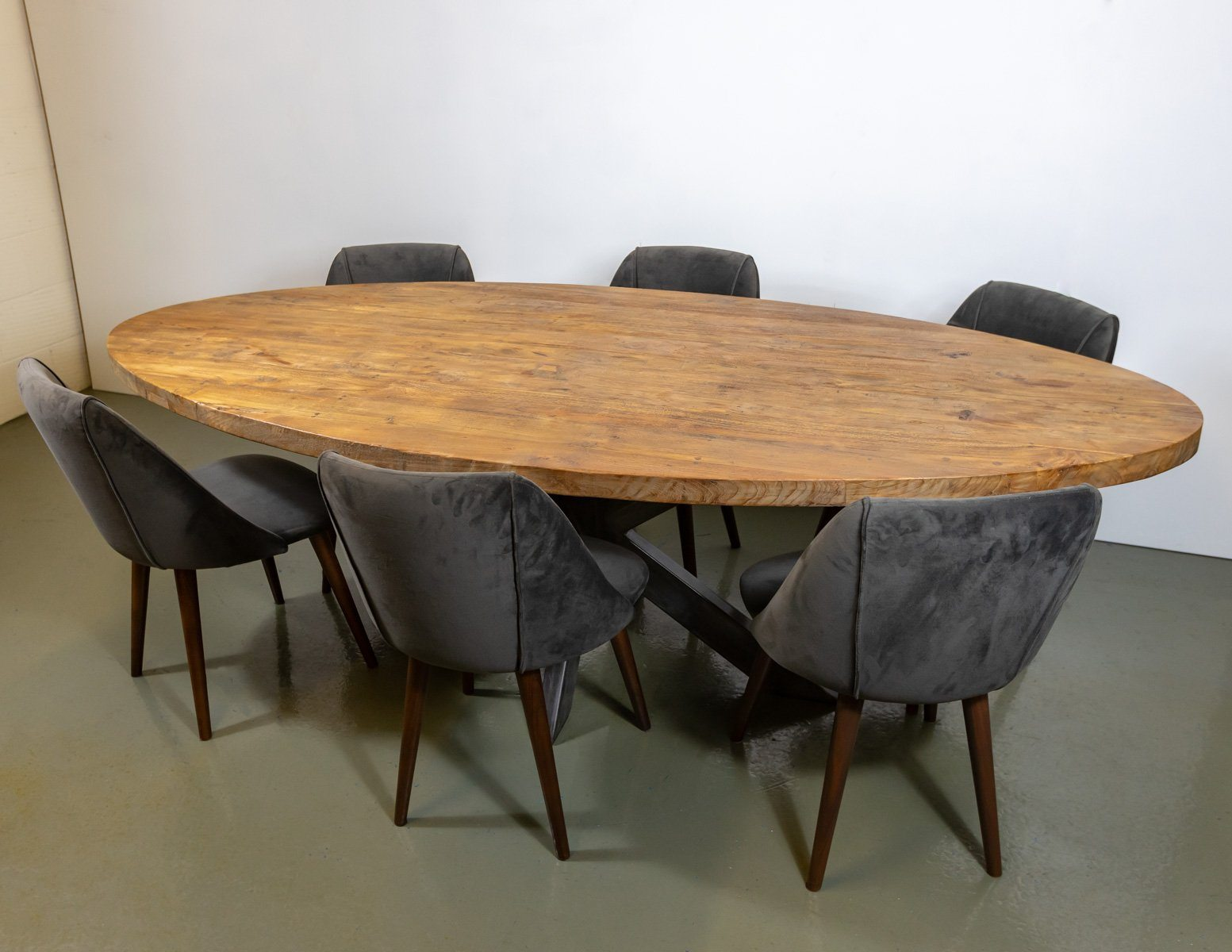 Dining Table - Amazing Solid Wood Belgium Oval Dining Table