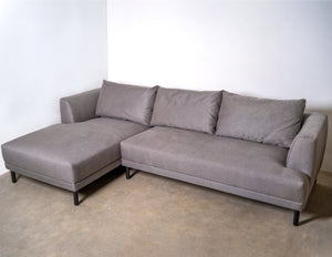 Made.com Bowery Left-hand Chaise Sofa In Grey