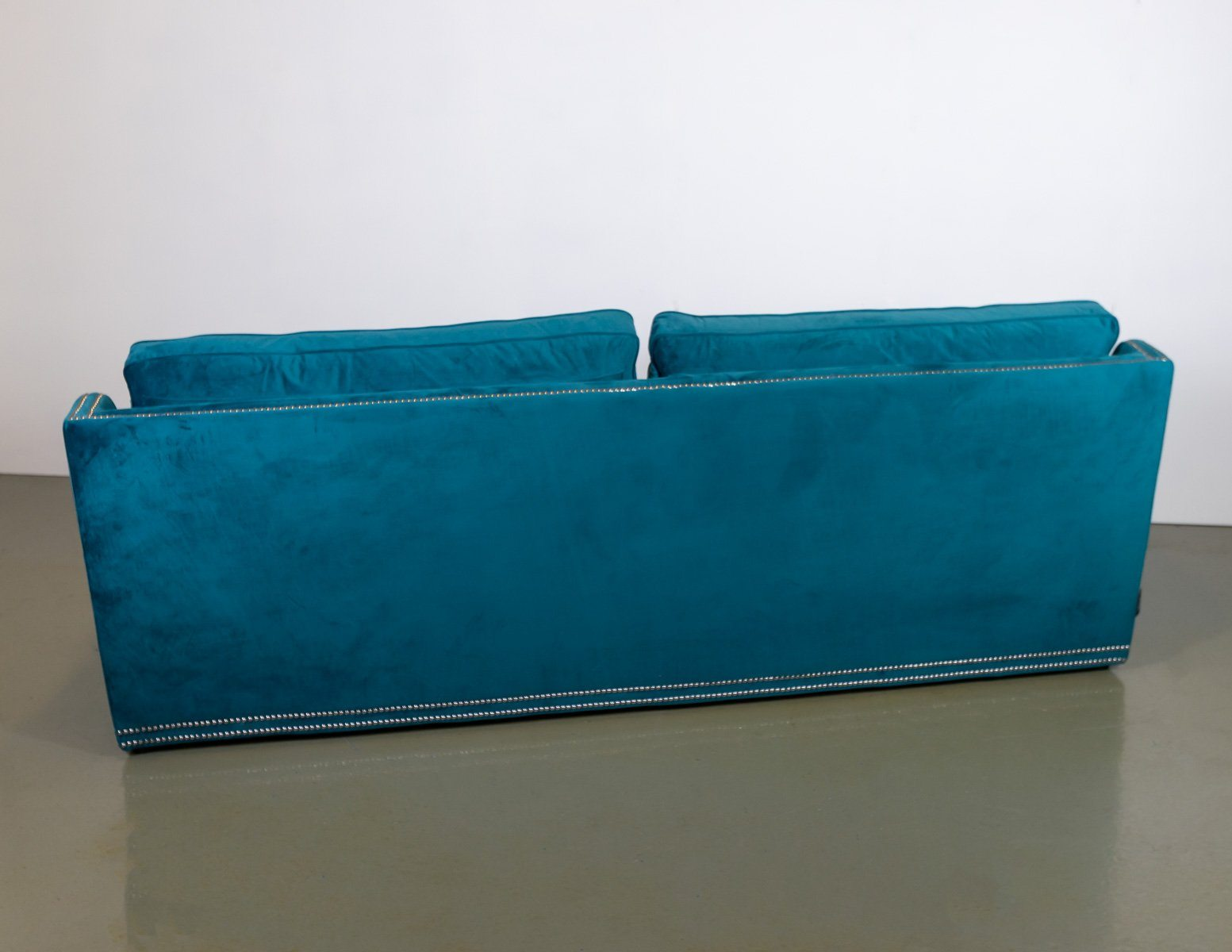 Sofa - Brand New Coach House Pratt Teal 3 Seater Studded Sofa