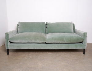 Sofa - Exquisite And Timeless Caravane Sofa In Light Powder Blue Velvet