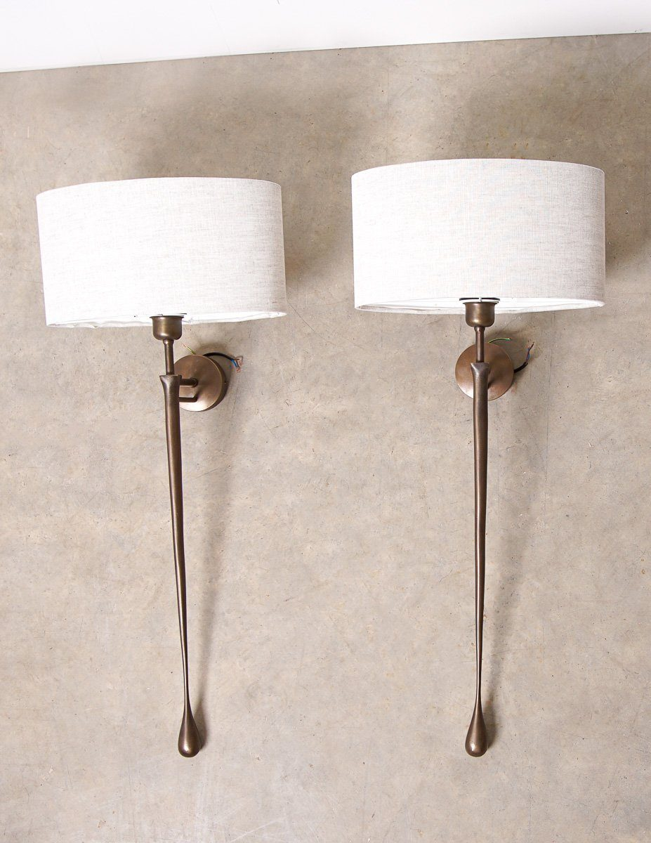 Wall Mounted Lights - Houseology Chelsom Metal Sculpture Wall Light (2 Units Sold As A Pair)