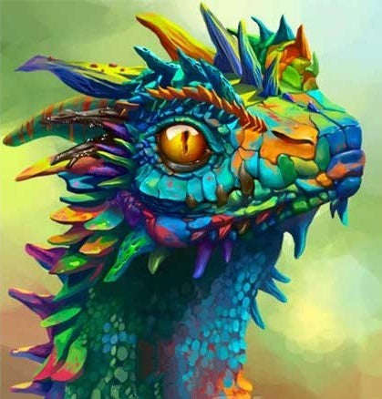 Special Order - Colourful Dragon - Full Drill Diamond Painting - Specially ordered for you. Delivery is approximately 4 - 6 weeks.