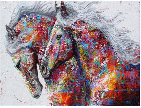 2 Horses - Full Drill Diamond Painting - Specially ordered for you. Delivery is approximately 4 - 6 weeks.