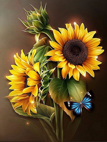 2 Sunflowers - Full Drill Diamond Painting - Specially ordered for you. Delivery is approximately 4 - 6 weeks.