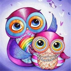 Special Order - 2 Colourful Owls - Full Drill Diamond Painting- Specially ordered for you. Delivery is approximately 4 - 6 weeks.