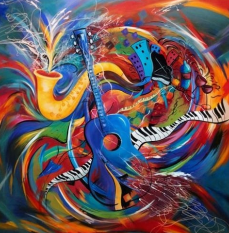 Special Order - Abstract Music - Full Drill Diamond Painting - Specially ordered for you. Delivery is approximately 4 - 6 weeks.