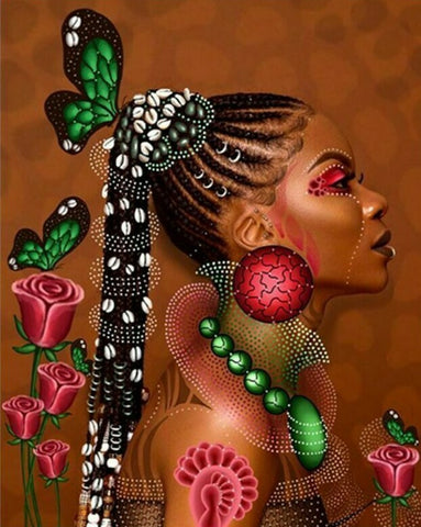 Special Order - African Woman - Full Drill Diamond Painting - Specially ordered for you. Delivery is approximately 4 - 6 weeks.