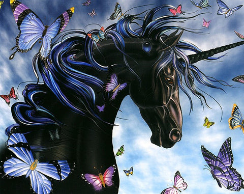 Special Order - Black Unicorn - Full Drill Diamond Painting - Specially ordered for you. Delivery is approximately 4 - 6 weeks.