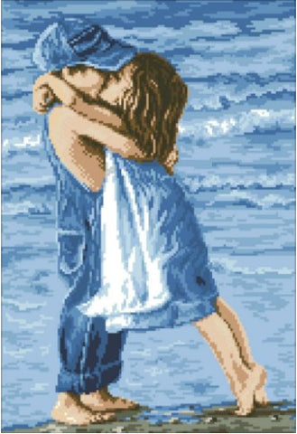 Boy And Girl On Beach - Full Drill Diamond Painting - Specially ordered for you. Delivery is approximately 4 - 6 weeks.