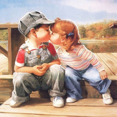 Special Order - First Kiss - Full Drill Diamond Painting - Specially ordered for you. Delivery is approximately 4 - 6 weeks.