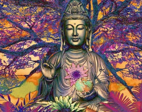 Special Order - Buddha Tree - Full Drill Diamond Painting - Specially ordered for you. Delivery is approximately 4 - 6 weeks.