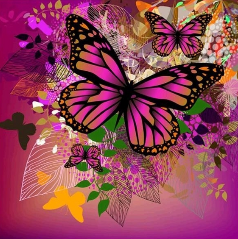 Special Order - Butterflies 10- Full Drill Diamond Painting - Specially ordered for you. Delivery is approximately 4 - 6 weeks.