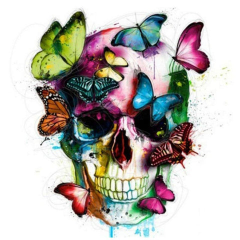 Special Order - Skull and Butterflies - Full Drill Diamond Painting - Specially ordered for you. Delivery is approximately 4 - 6 weeks.