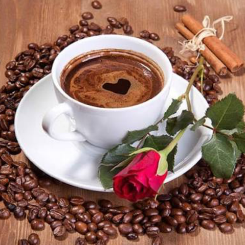 Special Order - Coffee and Rose - Full Drill Diamond Painting - Specially ordered for you. Delivery is approximately 4 - 6 weeks.