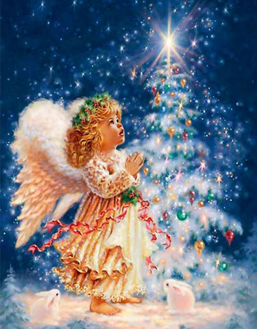 Christmas Angel- Full Drill Diamond Painting - Specially ordered for you. Delivery is approximately 4 - 6 weeks.