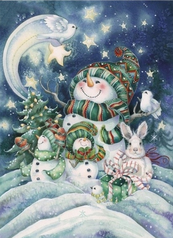 Special Order - Christmas Snowman- Full Drill diamond painting - Specially ordered for you. Delivery is approximately 4 - 6 weeks.