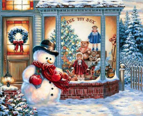 Christmas Toy Store  - Full Drill Diamond Painting - Specially ordered for you. Delivery is approximately 4 - 6 weeks.