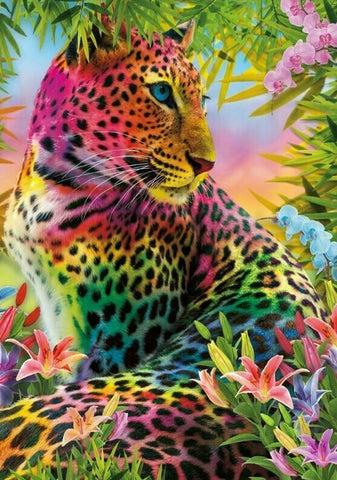 Col Leopard- Full Drill Diamond Painting - Specially ordered for you. Delivery is approximately 4 - 6 weeks.