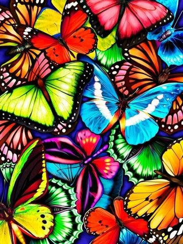 Special Order - Coloured Butterflies- Full Drill diamond painting - Specially ordered for you. Delivery is approximately 4 - 6 weeks.