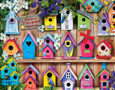 Colourful Birdhouses - Full Drill Diamond Painting - Specially ordered for you. Delivery is approximately 4 - 6 weeks.