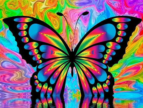 Colourful Butterfly- Full Drill Diamond Painting - Specially ordered for you. Delivery is approximately 4 - 6 weeks.