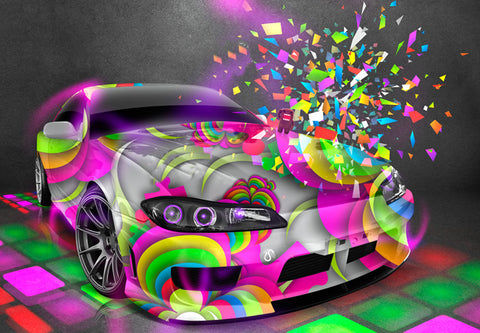 Colourful Car- Full Drill Diamond Painting - Specially ordered for you. Delivery is approximately 4 - 6 weeks.