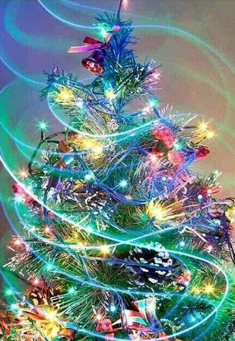 Colourful Christmas Tree- Full Drill Diamond Painting - Specially ordered for you. Delivery is approximately 4 - 6 weeks.