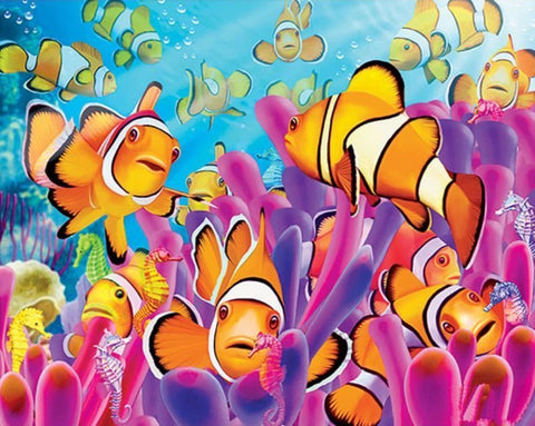 Special Order - Colourful Fish - Full Drill Diamond Painting - Specially ordered for you. Delivery is approximately 4 - 6 weeks.