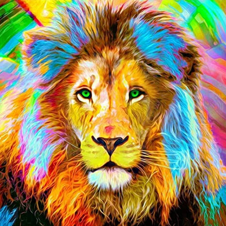 Colourful Animals 8- Full Drill Diamond Painting - Specially ordered for you. Delivery is approximately 4 - 6 weeks.