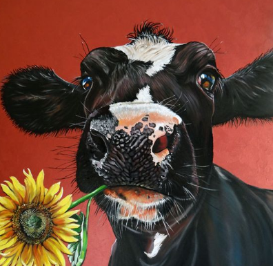 Special Order - Cow with Flower - Full Drill Diamond Painting - Specially ordered for you. Delivery is approximately 4 - 6 weeks.