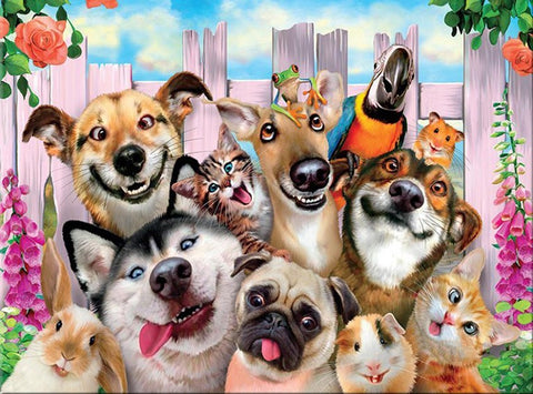 Crazy Animals - Full Drill Diamond Painting - Specially ordered for you. Delivery is approximately 4 - 6 weeks.