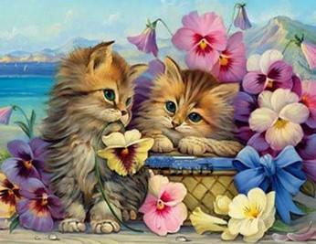 Special Order - Cute Kittens in a Basket - Full Drill diamond painting - Specially ordered for you. Delivery is approximately 4 - 6 weeks.