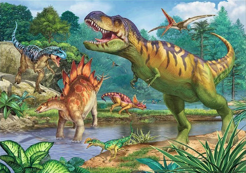 Dinosaurs- Full Drill Diamond Painting - Specially ordered for you. Delivery is approximately 4 - 6 weeks.