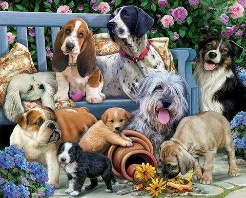 Dogs And Puppies - Full Drill Diamond Painting - Specially ordered for you. Delivery is approximately 4 - 6 weeks.