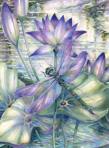 Special Order - Dragon Fly - Full Drill diamond painting - Specially ordered for you. Delivery is approximately 4 - 6 weeks.